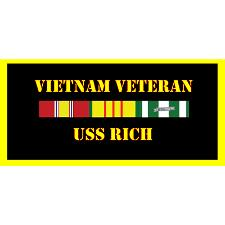 USS Rich Vietnam Veteran License Plate
