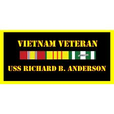 USS Richard S Anderson Vietnam Veteran License Plate