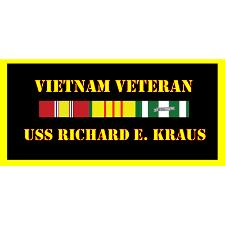 USS Richard W Krauss Vietnam Veteran License Plate