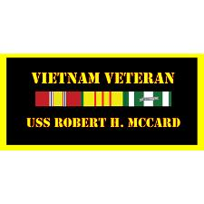 USS Robert MCCard Vietnam Veteran License Plate