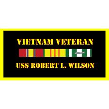 USS Robert Wilson Vietnam Veteran License Plate