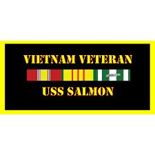 USS Salmon Vietnam Veteran License Plate
