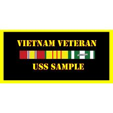 USS Sample Vietnam Veteran License Plate