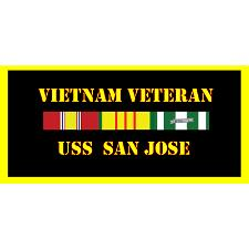 USS San Jose Vietnam Veteran License Plate