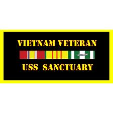 USS Sanctuary Vietnam Veteran License Plate