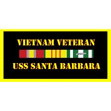 USS Santa barbara Vietnam Veteran License Plate