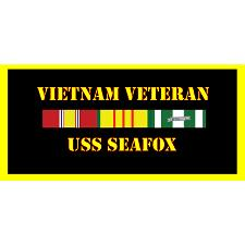 USS Sea Fox Vietnam Veteran License Plate