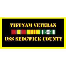 USS Sedgwick County Vietnam Veteran License Plate
