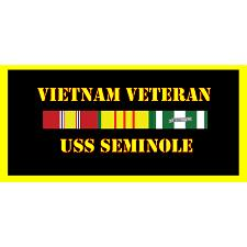 USS Seminole Vietnam Veteran License Plate