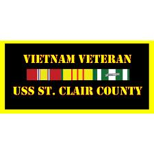 USS St Clair County Vietnam Veteran License Plate