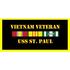 USS St Paul Vietnam Veteran License Plate