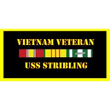 USS Stribling Vietnam Veteran License Plate