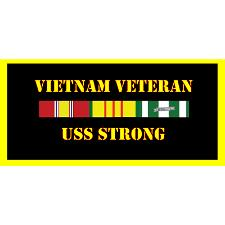 USS Strong Vietnam Veteran License Plate