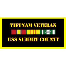 USS Summit County Vietnam Veteran License Plate