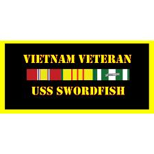 USS Swordfish Vietnam Veteran License Plate