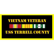 USS Terrell County Vietnam Veteran License Plate