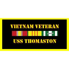 USS Thomaston Vietnam Veteran License Plate