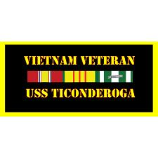 USS Ticonderoga Vietnam Veteran License Plate