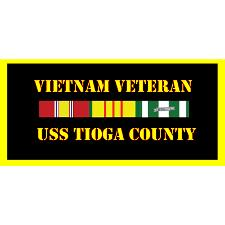 USS Tioga County Vietnam Veteran License Plate