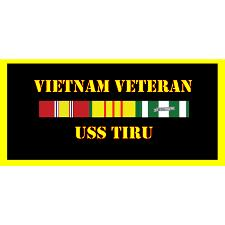 USS Tiru Vietnam Veteran License Plate