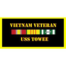 USS Towee Vietnam Veteran License Plate