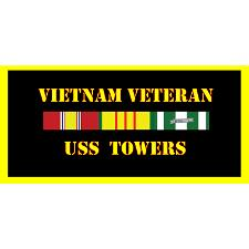 USS Towers Vietnam Veteran License Plate
