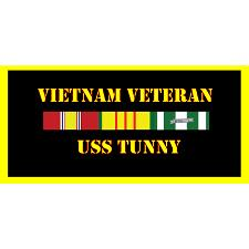 USS Tunney Vietnam Veteran License Plate