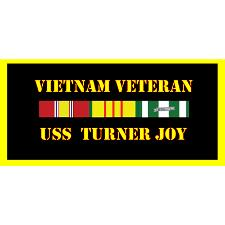 USS Turner Joy Vietnam Veteran License Plate