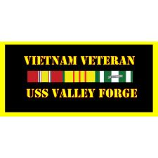 USS Valley Forge Vietnam Veteran License Plate