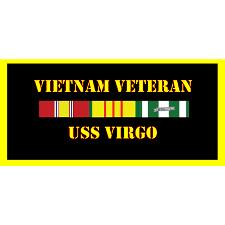 USS Virgo Vietnam Veteran License Plate