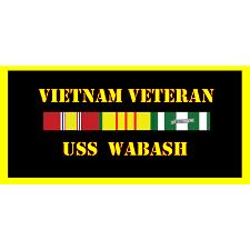 USS Washbash Vietnam Veteran License Plate