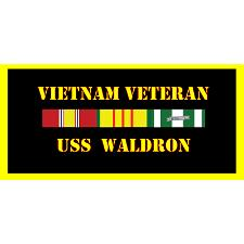USS Waldron Vietnam Veteran License Plate