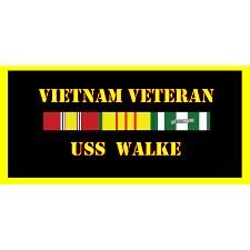 USS Walke Vietnam Veteran License Plate