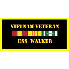 USS Walker Vietnam Veteran License Plate