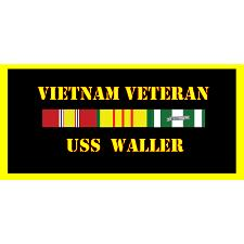 USS Waller Vietnam Veteran License Plate