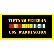 USS Warrington Vietnam Veteran License Plate