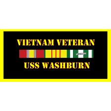 USS Washburn Vietnam Veteran License Plate