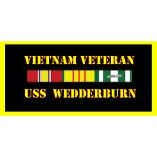 USS Wadderburn Vietnam Veteran License Plate