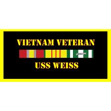 USS Weiss Vietnam Veteran License Plate