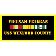 USS Wexford County Vietnam Veteran License Plate