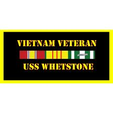 USS Whetstone Vietnam Veteran License Plate