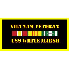 USS White Marsh Vietnam Veteran License Plate
