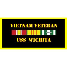 USS Wichita Vietnam Veteran License Plate