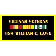 USS William C Lawe Vietnam Veteran License Plate
