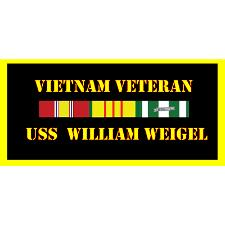 USS William Weigel Vietnam Veteran License Plate