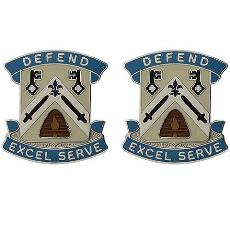307th Quartermaster Battalion Unit Crest (Defend Excel Serve)