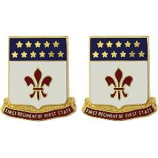 198th Signal Battalion Unit Crest (First Regiment of First State)