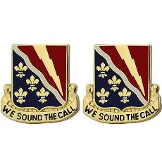 230th Signal Battalion Unit Crest (We Sound the Call)