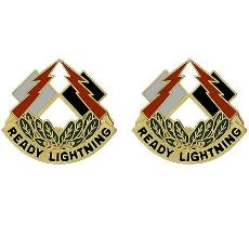 335th Signal Command Unit Crest (Ready Lightning)