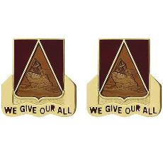 385th Transportation Battalion Unit Crest (We Give Our All)